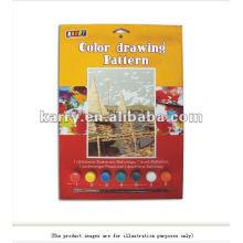 Деревянный парусник поделки 7 цветов с кистью развивающие игрушки/рисование игрушки установить