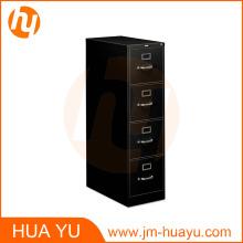 """Home Office Storage 1/2 """"D Cuatro cajones Vertical Letter File Cabinet en negro"""