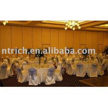 Couverture de chaise de satin, housses de chaise hôtel/banquet, ceinture d'Organza