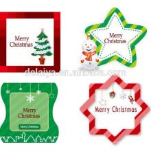 Рождество в форме сердца бумажные подарочные теги/бирки оптом в Китае