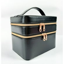 Cosmetic set make up packaging boxes with leather