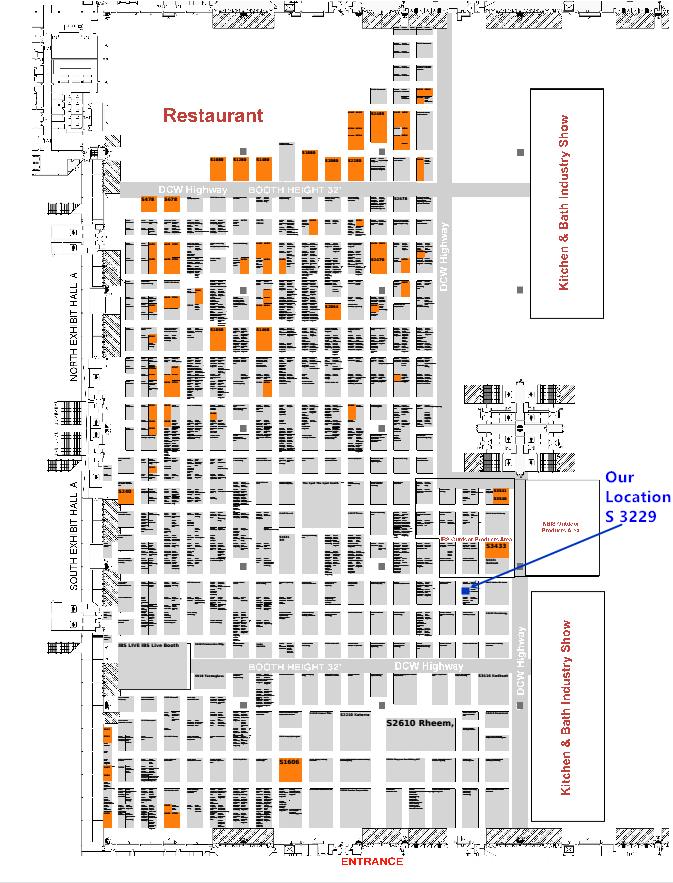 NAHB 2018 South Hall Map