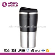 Высокое качество 350 мл двойной стенкой из нержавеющей стали тепловой кружка кофе