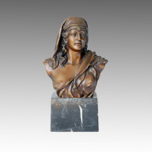 Busts Statue Ancient Female Bronze Sculpture TPE-056