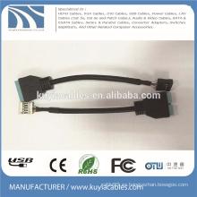 USB3.0 a 2.0 Adaptador Cable / SB 3.0 20Pin hembra a 2.0 9Pin macho de la placa madre convertidor de la casa del adaptador Cable PC portátil