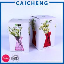 Роскошные рифленые коробки подарка с логосом фольги оптом