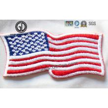 Diverso diseño nacional de la bandera que digitaliza el bordado 3D del diseño
