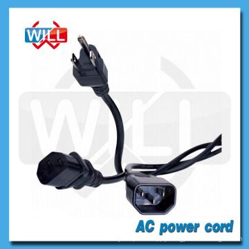 PSE approval 125V 250V japan AC power cord for hair straightener