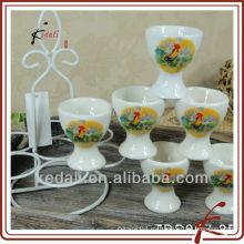China Taza de cerámica de la taza del huevo de la porcelana de la venta al por mayor