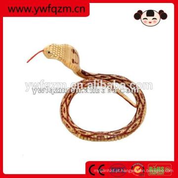 Serpente animal de madeira do brinquedo da simulação para a decoração