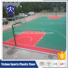 Outdoor PP material sports floor backyard basketball court interlocking tiles