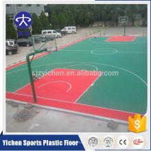 Напольные PP материал пол спортов дворе баскетбольная площадка пазовая черепица