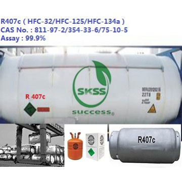 99.95% Refrigerant R407C high-purity gas