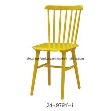 Chaise caractéristique de paon en bois solide pour la salle à manger
