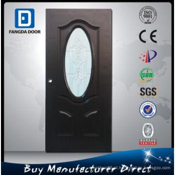 Porta nobre de vidro de aço de Fangda, melhor do que a porta nivelada da madeira compensada