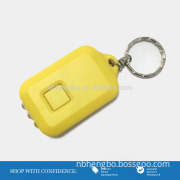 recycling useful ABS type solar 3 led key chain light
