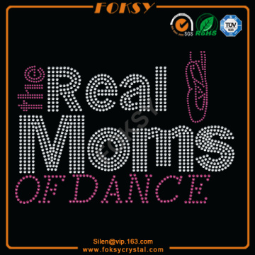 Hot Sale for Dance Rhinestone Iron On Motif The Real Moms Of Dance iron-on bling letters export to Fiji Factories