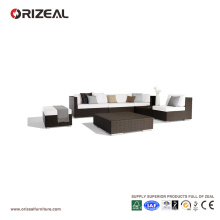 Sofá de rattan al aire libre seccional OZ-OR058