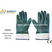 Guantes de trabajo de seguridad de espuma de nitrilo Jersey Liner (N3605)