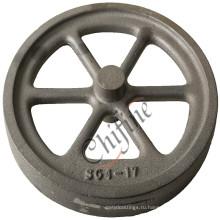 Железный песок нахлыстовый заброс колеса для тележки части