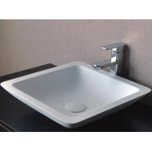 Articles sanitaires Design moderne Bassin blanc en marbre (BS-8323)