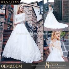 Vestido de noiva de vestido de bola com contas de alta qualidade