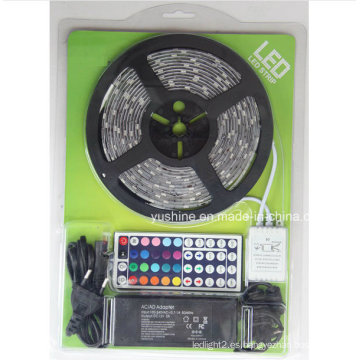 Kits de blíster de tiras de luz LED 5050 RGB