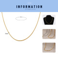 High Quality Stainless Steel Snake 18K Gold Chain Men Accessory Wholesale Necklace Men Custom Size