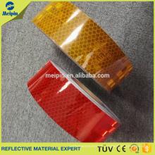Fita adesiva amarela vermelha de prata alta da visibilidade da fabricação ECE104 para o carro
