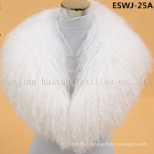 Long Pile Natural Mongolian Fur Scarf Eswj-25A