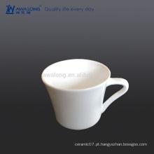 Logotipo personalizado copo de café resistente ao calor, cerâmica copo de café claro