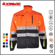 Hi-vis flame retardant jacket for industry useage