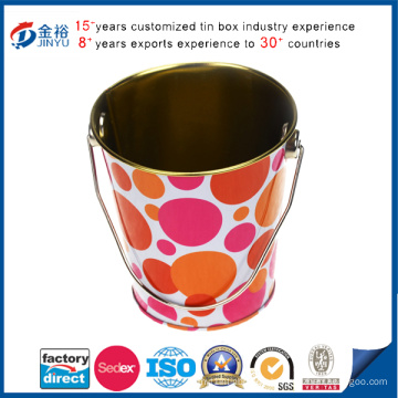 Round Shaped Stifthalter Tin Bucket
