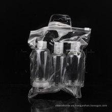 Sistema de la botella del recorrido 5PCS, tornillo / botella superior del casquillo del disco, tarro
