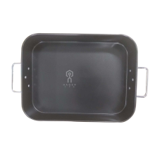 Carbon steel roasted chicken pan with handles