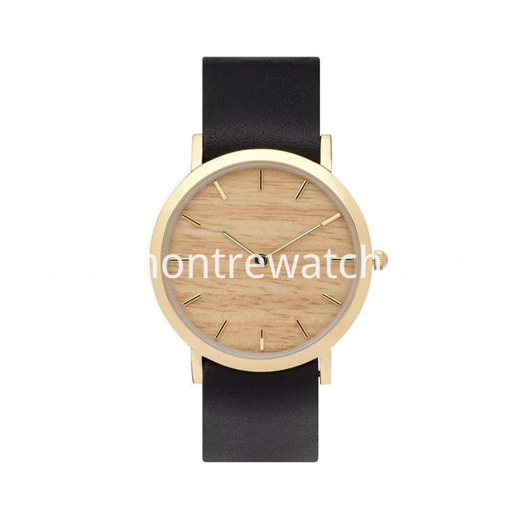 wooden dial watch