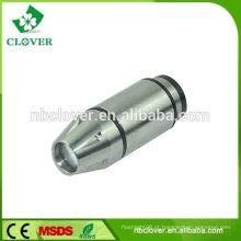Promoção presente 0,5W carro carregador mini lanterna lanterna bolso de alumínio