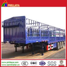 3 Achsen 60 Tonnen laden Schwanenhals Typ Zaun Semi Trailer