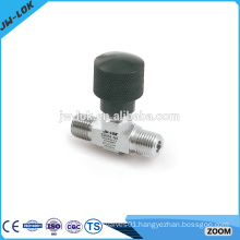Pressure threaded connections air operated needle valve