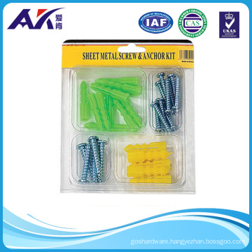 Assorted 30PCS Plastic Anchor and Machine Screw Kit