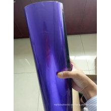 Película de PVC de color púrpura de alta densidad del rollo rígido del PVC