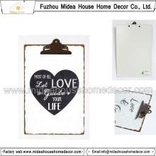 Werbeartikel Geschenke Metall / Holz Zwischenablage mit flachen Clip