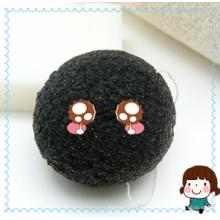 Esponja Konjac de carbón de bambú / productos de limpieza facial / de baño