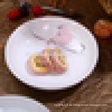 Placa de cerámica china para frutas, pizza, comida