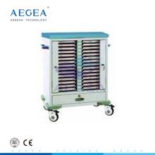 AG-CHT009 medizinische Patientenaktenwagen mit Kunststoffspritzgerüst