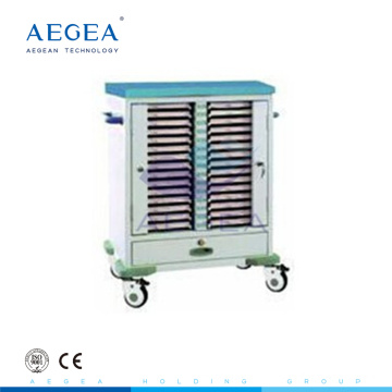 AG-CHT009 medical patient record carts with plastic spray framework