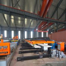 Empilhador de painel de telhado automático para máquina perfiladeira