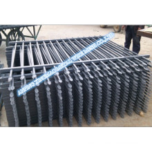Black Colour Garrison Panel Fencing with 2600mm High Post (XMS09)