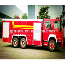 4 * 2 unidad 8 cbm SINOTRUK HOWO tanque de agua camión de bomberos / HOWO camión de bomberos de agua / HOWO camión de tanque de agua de fuego / HOWO agua espuma de bomberos