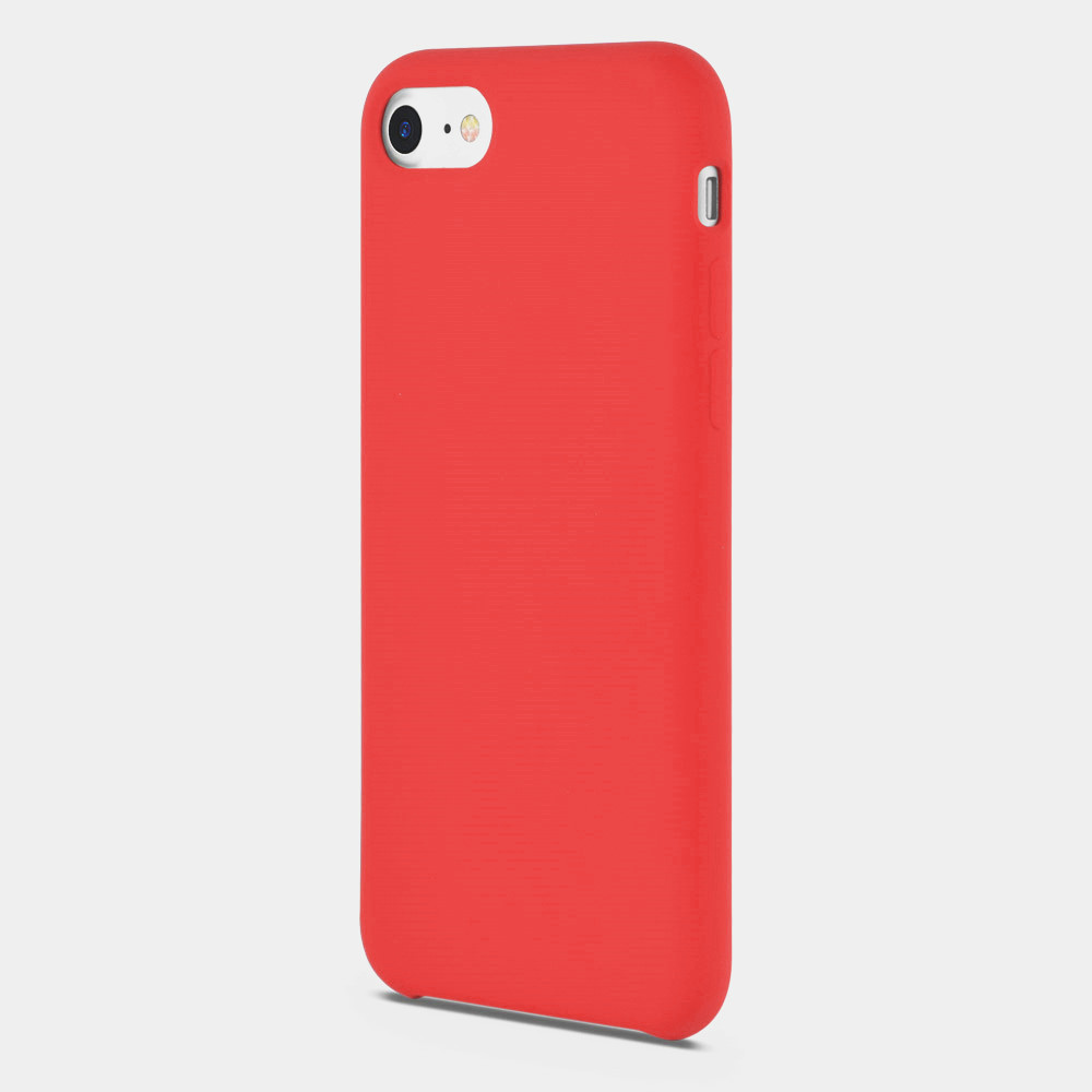 red liquid silicone phone case